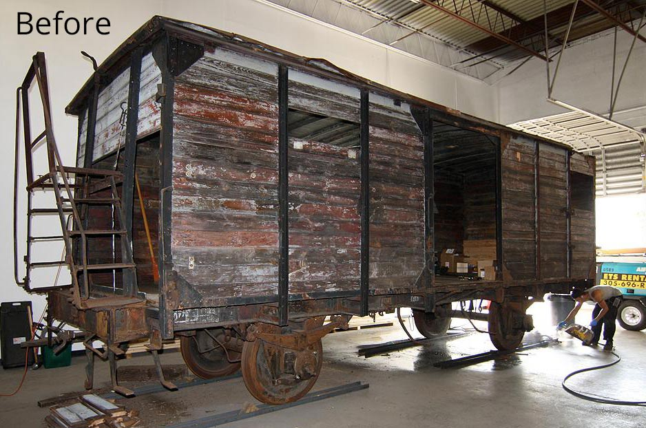 Rail Car Before Restoration