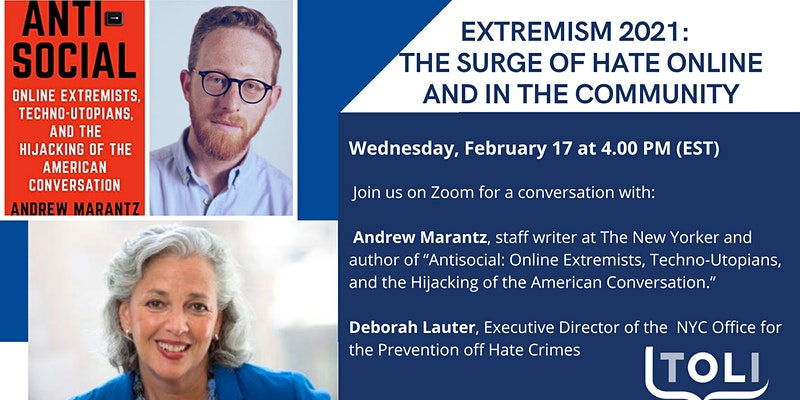 TOLI: Extremism 2021: The Surge of Hate Online and in the Community