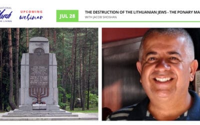 """International March of the Living: """"The Destruction of the Lithuanian Jews – The Ponary Massacre with Jacob Shoshan"""""""